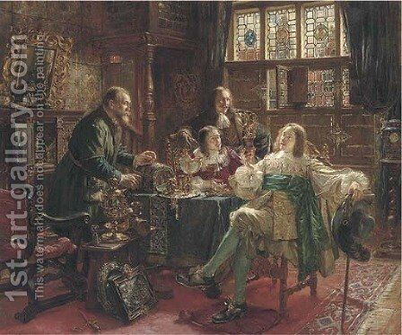 In the goldsmith's house by Max Gaisser - Reproduction Oil Painting
