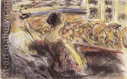An der Oper by Max Liebermann - Reproduction Oil Painting