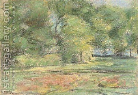Gartenansicht in Wannsee nach Nordosten by Max Liebermann - Reproduction Oil Painting