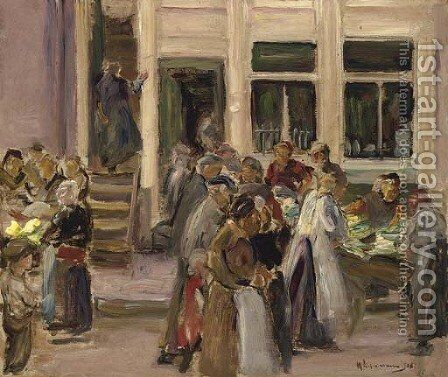 Judengasse in Amsterdam by Max Liebermann - Reproduction Oil Painting