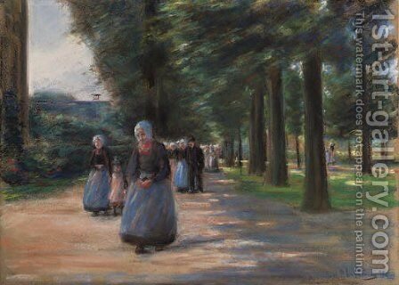 Kirchgang in Laren by Max Liebermann - Reproduction Oil Painting