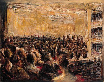 Konzert in der Oper by Max Liebermann - Reproduction Oil Painting