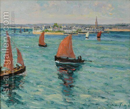 Devant l'ale Tudy by Maxime Maufra - Reproduction Oil Painting