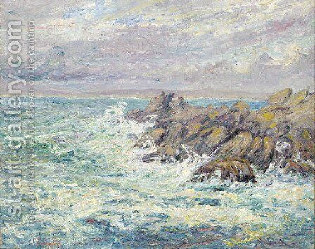 L'appel du large by Maxime Maufra - Reproduction Oil Painting