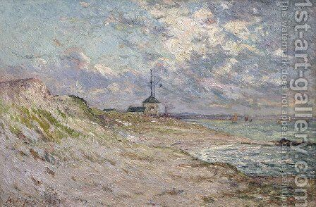 Le semaphore, Beg-Meil by Maxime Maufra - Reproduction Oil Painting