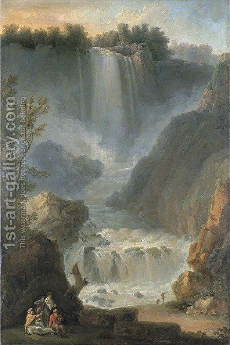 The Marmore waterfall, Terni by Michael Wutky - Reproduction Oil Painting