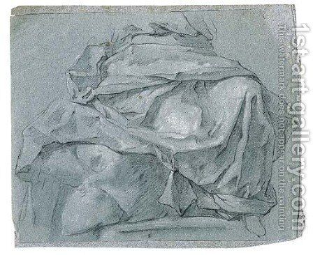 A study of drapery for the lower part of a seated figure by Michel-Francois Dandre-Bardon - Reproduction Oil Painting