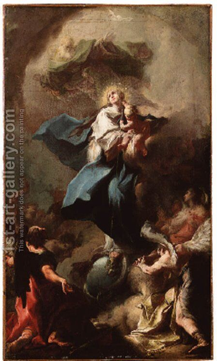 The Immaculate Conception by Michelangelo Unterberger - Reproduction Oil Painting