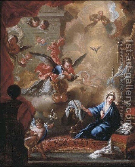 The Annunciation by Miguel Jacinto Melendez - Reproduction Oil Painting