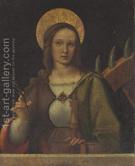 Saint Catherine by Milanese School - Reproduction Oil Painting