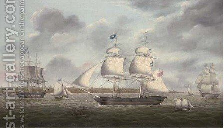 The brigs Mariote and Margaret in the Mersey off the Wirral by Miles Walters - Reproduction Oil Painting
