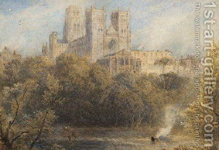 Durham cathedral by Myles Birket Foster - Reproduction Oil Painting