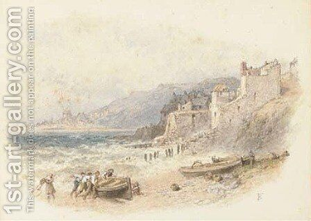 Lyme Regis by Myles Birket Foster - Reproduction Oil Painting