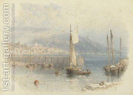 Lyme Regis from the Cobb by Myles Birket Foster - Reproduction Oil Painting
