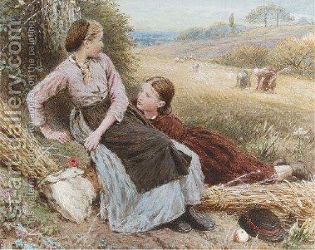 The errant harvesters by Myles Birket Foster - Reproduction Oil Painting