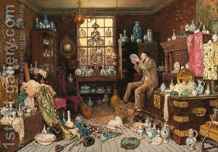 The Old Curiosity Shop by Myles Birket Foster - Reproduction Oil Painting