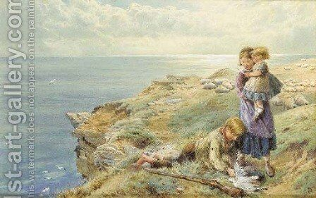 The Young Wild Fowler by Myles Birket Foster - Reproduction Oil Painting