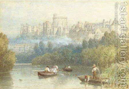 Windsor Castle by Myles Birket Foster - Reproduction Oil Painting
