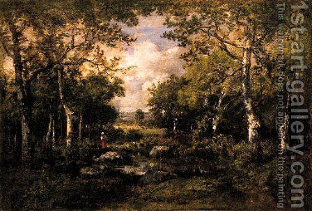 Landscape 3 by Narcisse-Virgile Díaz de la Peña - Reproduction Oil Painting