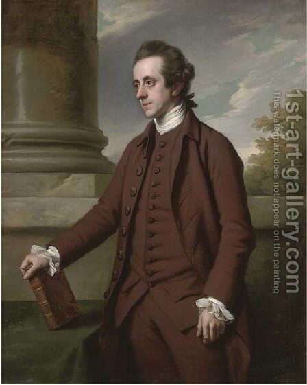 Portrait of William Baker, M.P. (1743-1824), of Bayfordbury Manor, Hertford, three-quarter-length, in a brown suit by Sir Nathaniel Dance-Holland - Reproduction Oil Painting