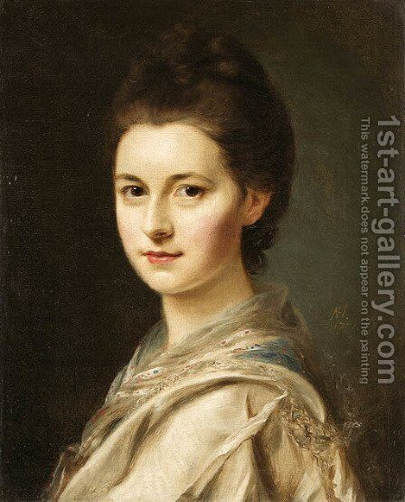 Portrait of a woman by Nathaniel Hone - Reproduction Oil Painting