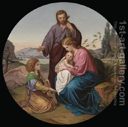 The Holy Family by Nazarene School - Reproduction Oil Painting