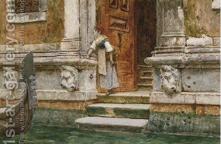 'He is coming', Venice by Nazzareno Cipriani - Reproduction Oil Painting