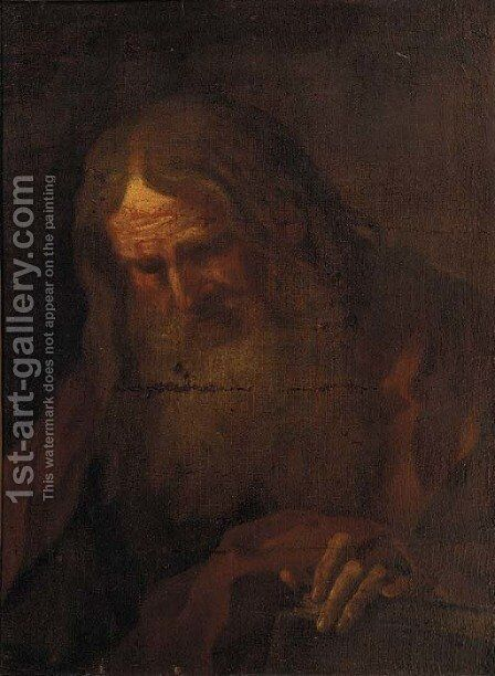 Saint Jerome by Neapolitan School - Reproduction Oil Painting