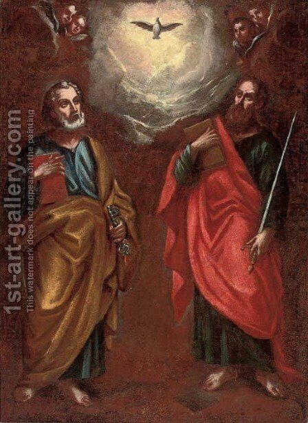 Saints Peter and Paul by Neapolitan School - Reproduction Oil Painting