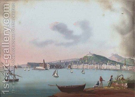 Napoli dal Carmine by Neapolitan School - Reproduction Oil Painting