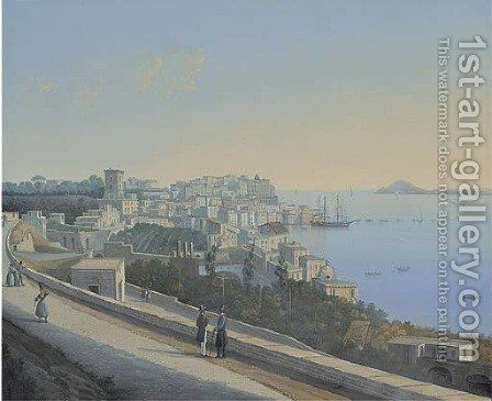 Pozzuoli (illustrated) by Neapolitan School - Reproduction Oil Painting