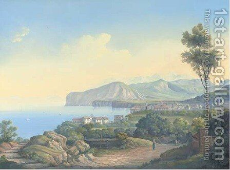 Sorrento (illustrated) by Neapolitan School - Reproduction Oil Painting