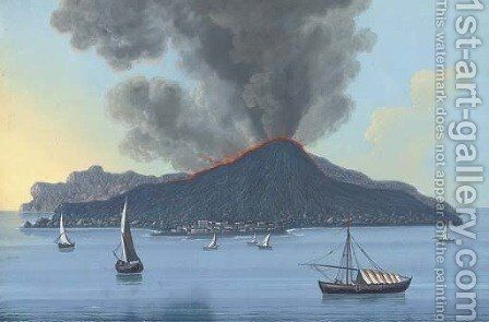 Stromboli by Neapolitan School - Reproduction Oil Painting
