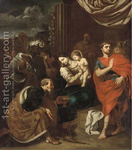 The Adoration of the Magi 2 by Neapolitan School - Reproduction Oil Painting