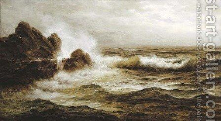 Seascape by Nels Hagerup - Reproduction Oil Painting