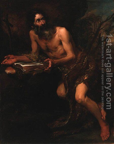 Saint Paul the Hermit by Neopolitan School - Reproduction Oil Painting