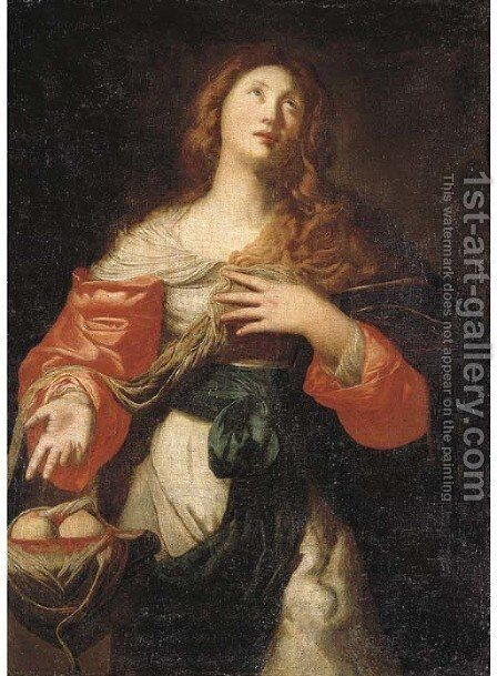 Saint Agatha by Niccolo De Simone - Reproduction Oil Painting