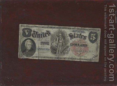 Five Dollar Bill by Nicholas Alden Brooks - Reproduction Oil Painting