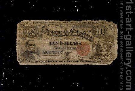 Ten Dollar Bill by Nicholas Alden Brooks - Reproduction Oil Painting
