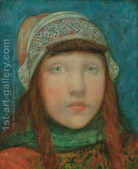 Portrait of a young girl by Nico Jungmann - Reproduction Oil Painting