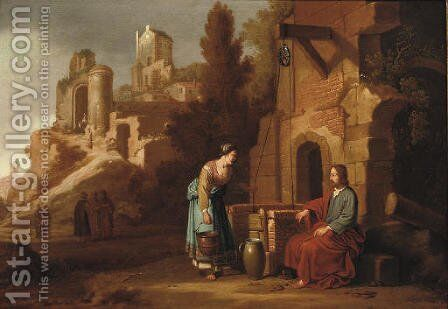 Christ and the Woman of Samaria by Claes Cornelisz Moeyaert - Reproduction Oil Painting