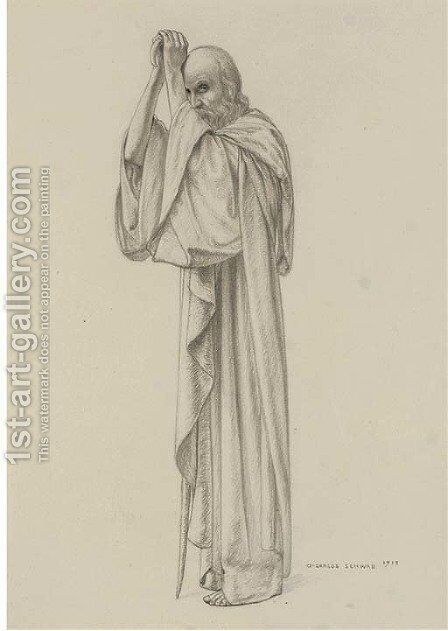 Prophet by Carlos Schwabe - Reproduction Oil Painting