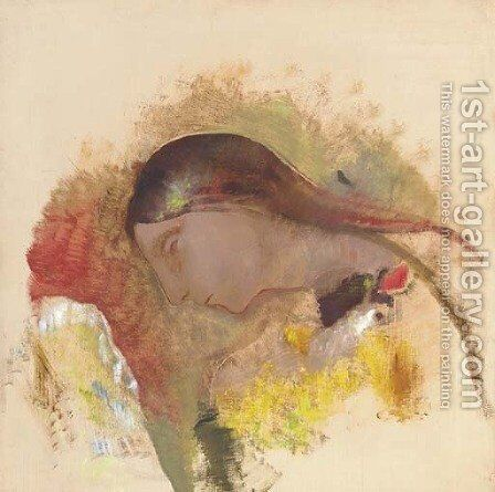 Tete de femme endormie by Odilon Redon - Reproduction Oil Painting