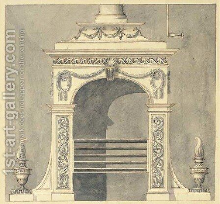 Design for a hall stove by Sir William Chambers - Reproduction Oil Painting