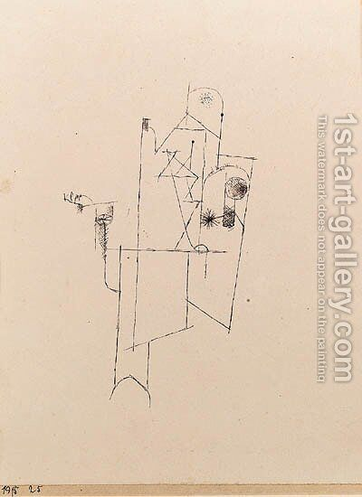 Gebude des Friedens (Symbol) by Paul Klee - Reproduction Oil Painting