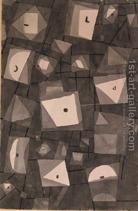 Magazinierte Symbole by Paul Klee - Reproduction Oil Painting