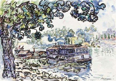 Asnieres by Paul Signac - Reproduction Oil Painting
