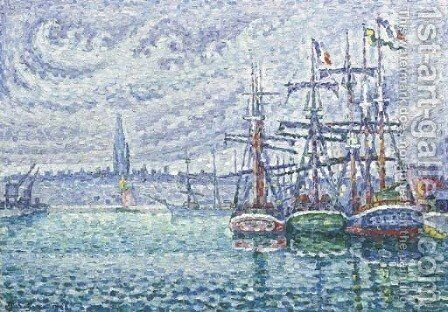 Bassin a flots. Saint-Malo by Paul Signac - Reproduction Oil Painting