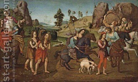 Jason and Queen Hypsipyle with the women of Lemnos a spalliera by Piero Di Cosimo - Reproduction Oil Painting