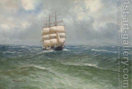 Running home by Alfred Serenius Jensen - Reproduction Oil Painting